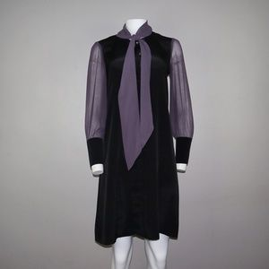 Twiggy London Color Block Dress Black